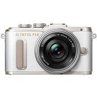 Olympus PEN E-PL8 bílý + Pancake objektiv ED 14-42EZ stříbrný - Digitální fotoaparát