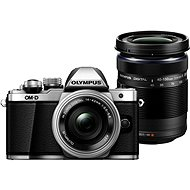Olympus E-M10 Mark II Pancake silver + ED 14-42EZ stříbrný + 40-150mm R černý - Digitální fotoaparát