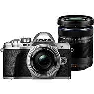 Olympus E-M10 Mark III Pancake Silver + ED 14-42EZ Silver + 40-150mm R Silver - Digital Camera