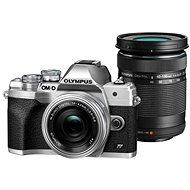 Olympus OM-D E-M10 Mark IV + 14-42 mm EZ + 40-150 mm R stříbrný - Digitální fotoaparát