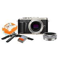 Olympus PEN E-PL9 černý + M.Zuiko Pancake 14-42mm + Travel kit - Digitální fotoaparát