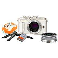 Olympus PEN E-PL9 bílý + M.Zuiko Pancake 14-42mm + Travel kit - Digitální fotoaparát