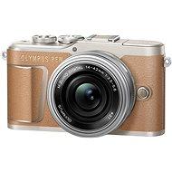 Olympus PEN E-PL9 hnědý + M.Zuiko Pancake 14-42mm - Digitální fotoaparát
