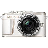 Olympus PEN E-PL10 bílý + Pancake Zoom Kit 14-42 mm stříbrný