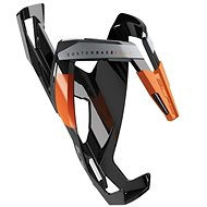 Košík na lahev Elite Custom Race Plus lesklý černý/oranžový