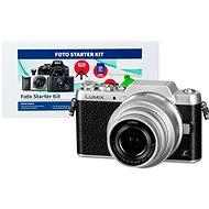 Panasonic LUMIX DMC-GF7 stříbrný + objektiv 12-32mm + Alza Foto Starter Kit
