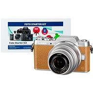 Panasonic LUMIX DMC-GF7 hnědý + objektiv 12-32mm + Alza Foto Starter Kit