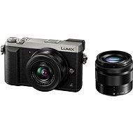 Panasonic LUMIX DMC-GX80 stříbrný + objektiv 12-32mm + objektiv 35-100mm - Digitální fotoaparát