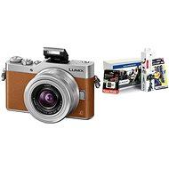 Panasonic LUMIX DMC-GX800 hnědý + objektiv 12-32mm + Alza Foto Starter Kit 32GB - Digitální fotoaparát