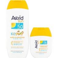 ASTRID SUN Dětské mléko na opalování OF 50200 ml+ Hydratační mléko na opalování OF 1580 ml - Kosmetická sada