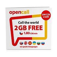 SIM karta OpenCall Předplacená karta s kreditem 200Kč + 1GB na měsíc zdarma - SIM karta