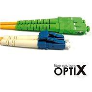 OPTIX SC/APC-LC optický patch cord 09/125 1m G657A - Datový kabel