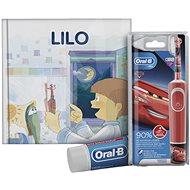 Oral-B Vitality Kids Cars + Oral-B zubní pasta + knížka - Elektrický zubní kartáček pro děti