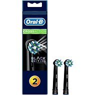 Oral-B CrossAction Brush Head with CleanMaximiser Technology, Black Series, Pack of 2