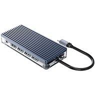 USB Hub Orico USB-C Hub 11 in 1 Transparent, SD/TF reader, Power Delievery, Ethernet, VGA, Audio