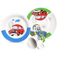 Sada jídelní porc. dětská AUTO 3 ks  - Dětská jídelní sada