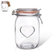 Dóza sklo patent BELA srdce 1 l  - Dóza