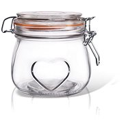 Dóza sklo patent BELA srdce 0,5 l  - Dóza
