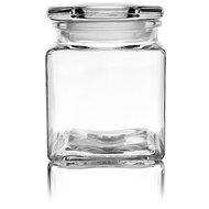 Dóza sklo s víkem 0,95 l hranatá  - Dóza