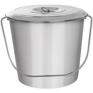 Stainless-steel Bucket with Lid A 12l - Bucket