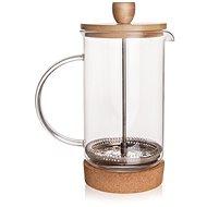 Konvice sklo/nerez/bambus kafetier CORK 0,4 l  - Konvice