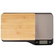 Orion Kuchyňská váha bambus 5 kg+krájecí prkénko