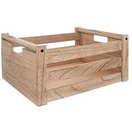 Bedýnka dřevo dekorace A NATURAL 31x21x14 cm  - Úložný box