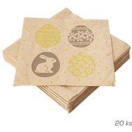 ORION Ubrousek papír Vajíčka a zajíček 20 ks 33x33  cm  - Papírové ubrousky