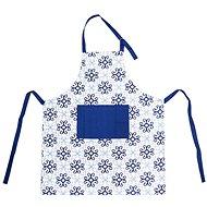 Zástěra kuch. bavlna BLUE SHAPES  - Zástěra