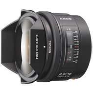 SONY 16mm f/2.8 rybí oko - Objektiv
