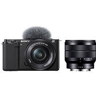 Sony Alpha ZV-E10 vlogovací fotoaparát + 16-50mm f/3.5-5.6 + 10-18mm f/4.0