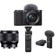 Sony Alpha ZV-E10 + 16-50mm f/3.5-5.6 + 10-18mm f/4.0 + Grip GP-VPT2BT + Mikrofon ECM-W2BT - Digitální fotoaparát