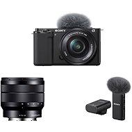Sony Alpha ZV-E10 + 16-50mm f/3.5-5.6 + 10-18mm f/4.0 + Mikrofon ECM-W2BT - Digitální fotoaparát