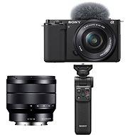 Sony Alpha ZV-E10 + 16-50mm f/3.5-5.6 + 10-18mm f/4.0 + Grip GP-VPT2BT - Digitální fotoaparát