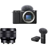 Sony Alpha ZV-E10 tělo + 10-18mm f/4.0 + Mikrofon ECM-W2BT - Digitální fotoaparát