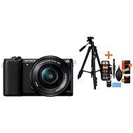 Sony Alpha A5100 černý + objektiv 16-50mm + Rollei Foto Starter Kit 2 - Digitální fotoaparát
