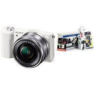 Sony Alpha A5100 bílý + objektiv 16-50mm + Alza Foto Starter Kit - Digitální fotoaparát