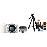 Sony Alpha A5100 bílý + objektiv 16-50mm + Rollei Foto Starter Kit 2 - Digitální fotoaparát