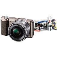 Sony Alpha A5100 hnědý + objektiv 16-50mm + Alza Foto Starter Kit - Digitální fotoaparát
