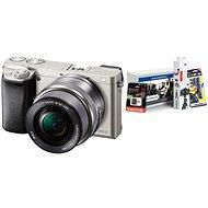 Sony Alpha A6000 stříbrný + objektiv 16-50mm + Alza Foto Starter Kit - Digitální fotoaparát