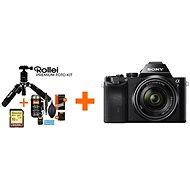 Sony Alpha A7 + objektiv 28-70mm + Rollei Premium Starter Kit - Digitální fotoaparát