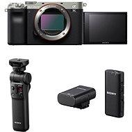 Sony Alpha A7C stříbrný + Grip GP-VPT2BT + Mikrofon ECM-W2BT - Digitální fotoaparát