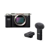 Sony Alpha A7C stříbrný + Mikrofon ECM-W2BT - Digitální fotoaparát