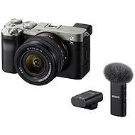 Sony Alpha A7C + FE 28-60mm stříbrný + Mikrofon ECM-W2BT