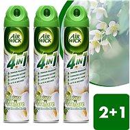 AIR WICK Spray 4in1 Bílé květy frézie 240 ml 2+1 ks