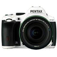 PENTAX K-50 white + objektiv DAL 18-135mm WR - Digitální zrcadlovka