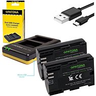 PATONA Foto Dual Quick Canon LP-E6 + 2x baterie 2040mAh - Nabíječka akumulátorů