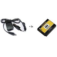 PATONA sada pro Nikon EN-EL12 nabíječka + 2x baterie 800mAh - Nabíječka akumulátorů