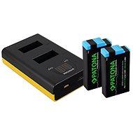 PATONA sada pro Dual GoPro MAX s LCD + 2x pro 1400mAh Premium - Nabíječka akumulátorů