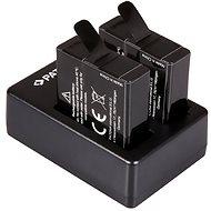 PATONA sada pro Dual GoPro Hero 5/6/7 + 2x pro 1250mAh - Nabíječka akumulátorů